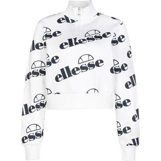 Ellesse Ballino Fulmire 1/4 Zip Cropped Sweatshirt Damen weiß / schwarz