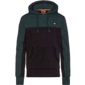 Superdry COLLECTIVE COLOUR BLOCK Hoodie Herren pine
