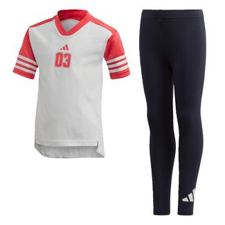 adidas T-Shirt und Tight-Set Trainingsanzug Kinder White / Black