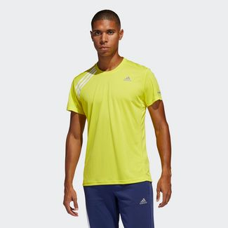 adidas T-Shirt Herren Shock Yellow / White