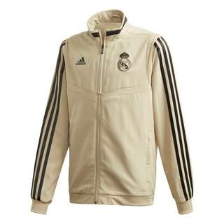 adidas Real Madrid Presentation Jacket Trainingsjacke Kinder Raw Gold / Black