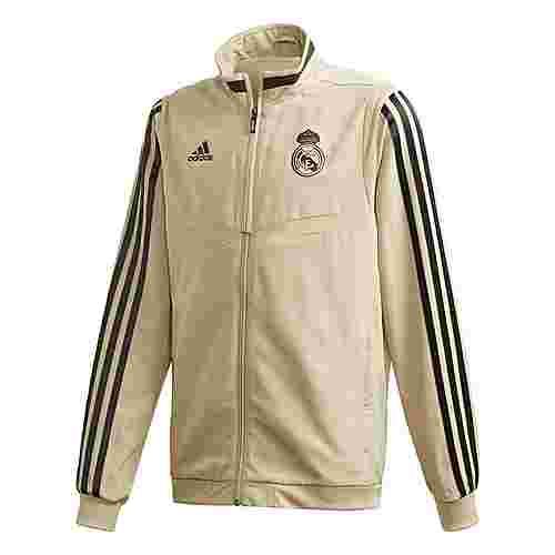 adidas Real Madrid Presentation Jacket Trainingsjacke Kinder Raw Gold / Black