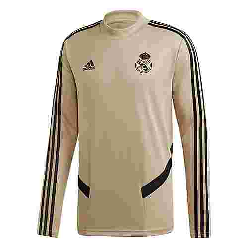 adidas Real Madrid Trainingsoberteil Sweatshirt Herren Raw Gold / Black