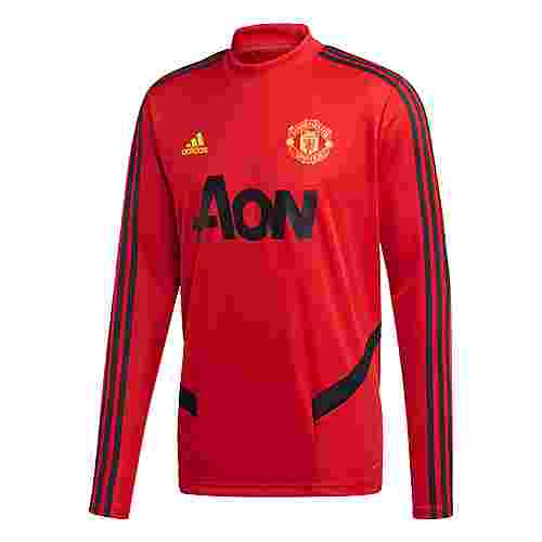 adidas Manchester United Trainingsoberteil Sweatshirt Herren Collegiate Red / Solid Grey