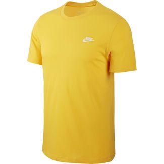 Nike NSW Club T-Shirt Herren university gold-white