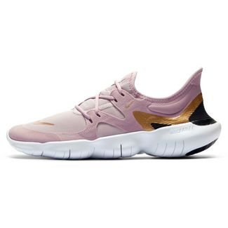 Nike Free Run 5.0 Laufschuhe Damen plum chalk-metallic gold-platinum violet