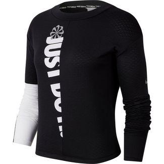 Nike Icon Clash Langarmshirt Damen black-white-reflective silver