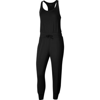 Nike Yoga Jumpsuit Damen black-dk smoke grey