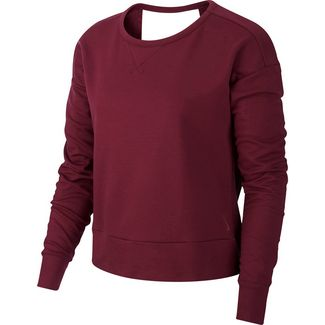 Nike Yoga Sweatshirt Damen villain red-shadowberry