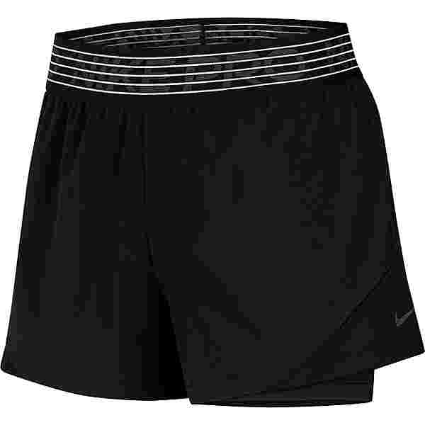 Nike Funktionsshorts Damen black-black-thunder grey