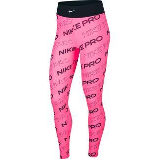 Nike Pro Tights Damen digital pink-black-metallic silver