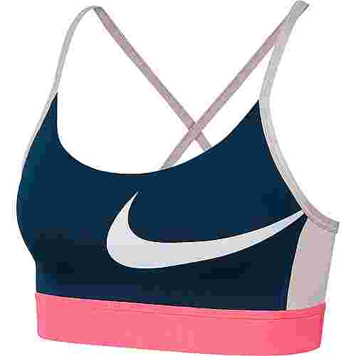 Nike Icon Clash Sport-BH Damen valerian blue-hyper pink-white