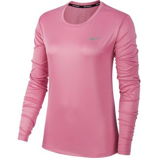 Nike Miler Funktionsshirt Damen magic flamingo-reflective silver