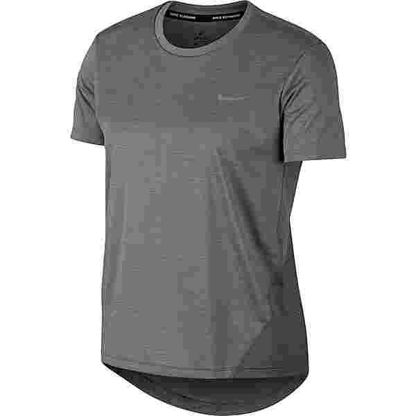 Nike Miler Funktionsshirt Damen gunsmoke-htr-reflective silver