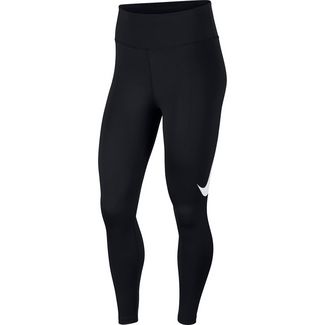 Nike Swoosh Laufhose Damen black-reflective silver
