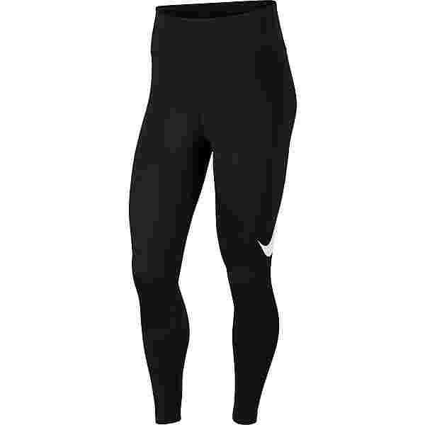 Nike Swoosh Lauftights Damen black-reflective silver