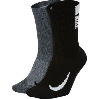 Nike Mltplier Crew Laufsocken wg blk-a-blk wh