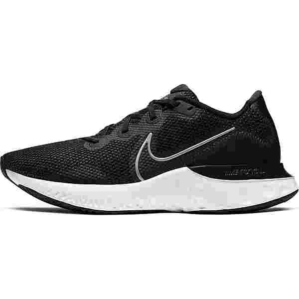 Nike Renew Run Laufschuhe Herren black-mtlc silver-white-dk smoke grey-particle grey