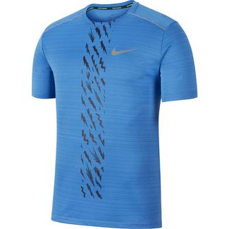 Nike Dry Miler Funktionsshirt Herren pacific blue-imperial purple-reflective silv