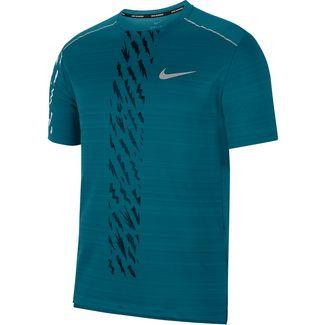 Nike Dry Miler Laufshirt Herren bright spruce-black-reflective silv
