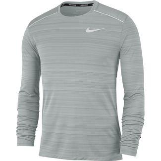 Nike Damen Miler Long Sleeve Langarm Laufshirt, Grünes