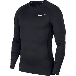 Nike Pro Trainingsshirt Herren black-white