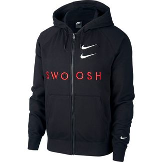 Nike NSW Swoosh Hoodie Herren black-university red-white