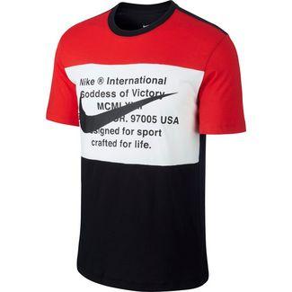 Nike NSW Swoosh T-Shirt Herren black-university red-white