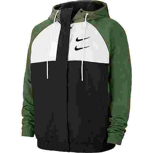 Nike NSW  Swoosh Funktionsjacke Herren black-white-treeline-black