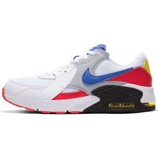 Nike Air Max Excee Sneaker Kinder white-hyper blue-bright cactus-track red