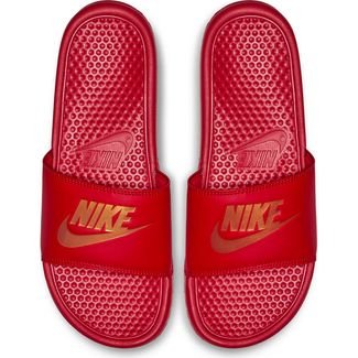 Nike Benassi JDI Badelatschen Herren university red-metallic gold