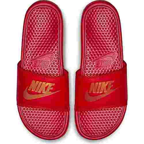 Nike Benassi JDI Badelatschen Herren university red-metallic gold