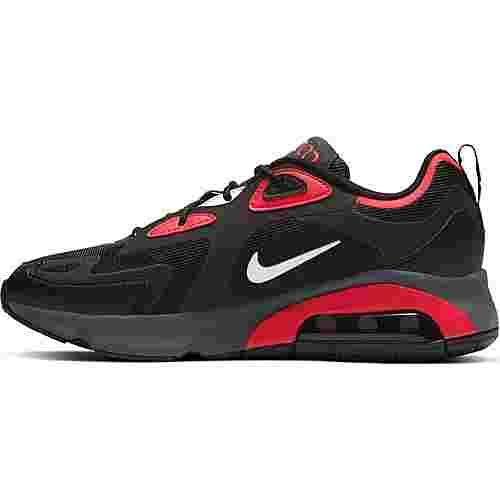 Nike Air Max 200 Sneaker Herren black-white-university red-dark grey