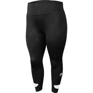 Nike Plus Size Laufhose Damen black-reflective silv