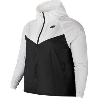 Nike Plus Size Windbreaker Damen white-black-black
