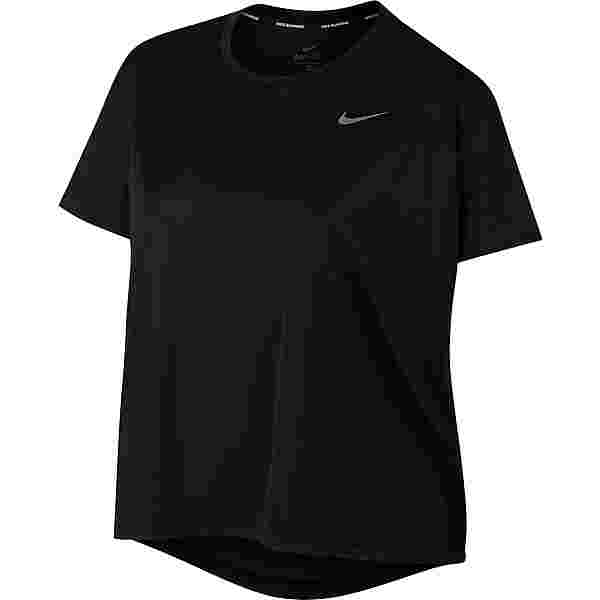 Nike Plus Size Funktionsshirt Damen black-reflective silv