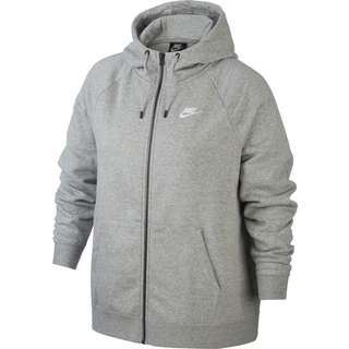 Nike Plus Size Sweatjacke Damen dk grey heather-white