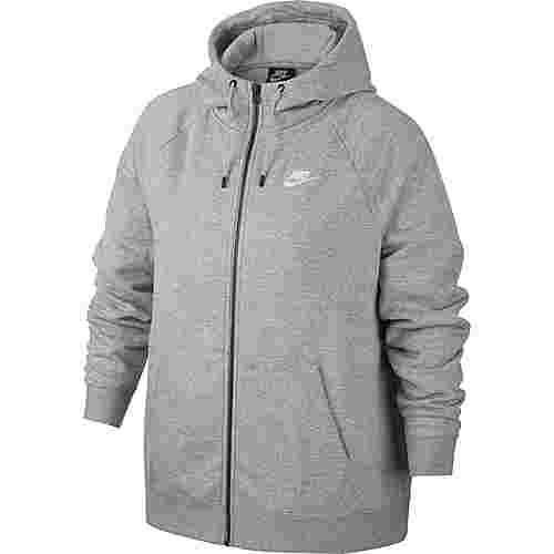 Nike Plus Size Sweatjacke Damen dk grey heather-white