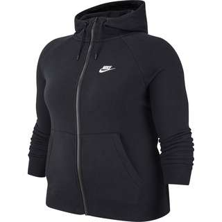 Nike Plus Size Sweatjacke Damen black-white