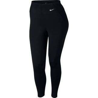 Nike Plus Size Tights Damen black-white