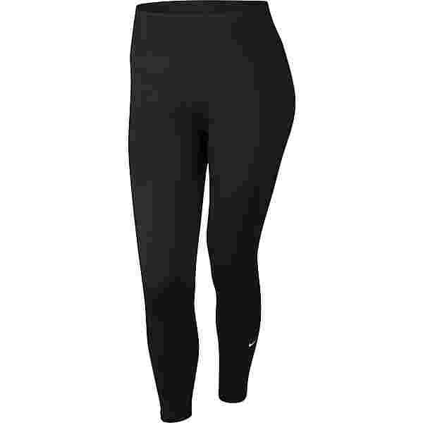 Nike Plus Size Tights Damen black-white