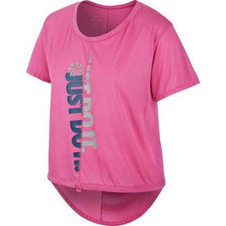 Nike Plus Size Funktionsshirt Damen cosmic fuchsia-reflective silv