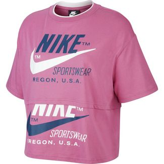 Nike NSW Icon Clash Croptop Damen cosmic fuchsia