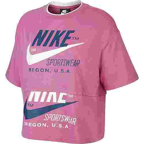 Nike NSW Icon Clash Croptop Damen cosmic fuchsia