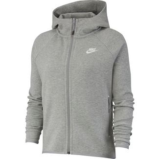 Nike Tech Fleece Sweatjacke Damen dk grey heather-matte silver-white