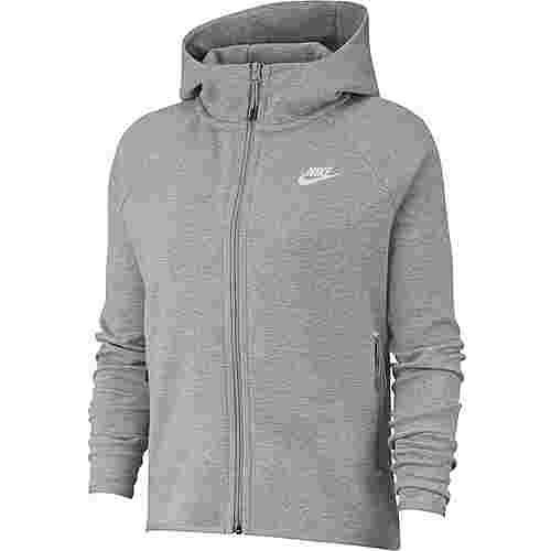 Nike Tech Fleece Sweatjacke Damen dk grey heather-matte silver-white