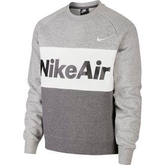 Nike NSW Air Sweatshirt Herren dark grey heather-charcoal heather-white