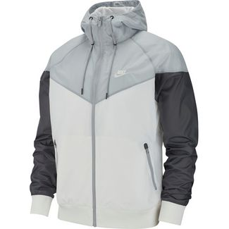 Nike NSW Windrunner Trainingsjacke Herren white-wolf grey-dark grey