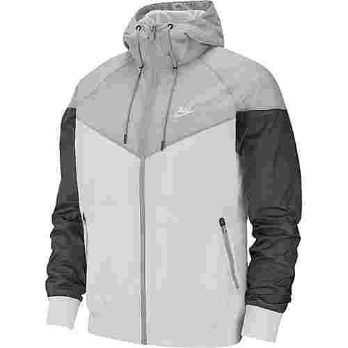 Nike NSW Windrunner Nylonjacke Herren white-wolf grey-dark grey