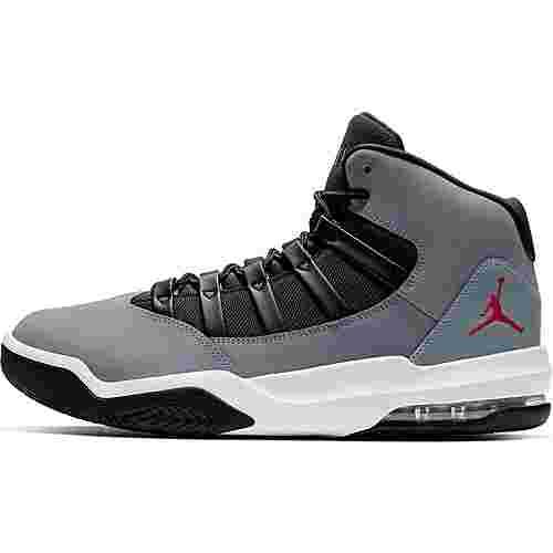 Nike Jordan Max Aura Basketballschuhe Herren cool grey-gym red-black-white